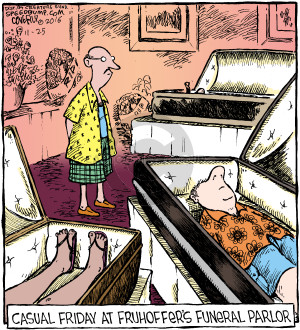 Comic Strip Dave Coverly  Speed Bump 2016-11-25 casual clothes