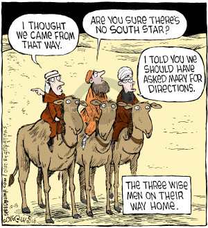 Comic Strip Dave Coverly  Speed Bump 2016-12-15 Lost
