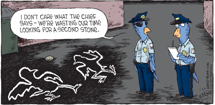Cartoonist Dave Coverly  Speed Bump 2017-01-29 police weapon