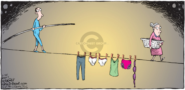 Cartoonist Dave Coverly  Speed Bump 2017-02-26 laundry