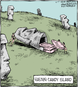 Comic Strip Dave Coverly  Speed Bump 2017-04-17 Easter