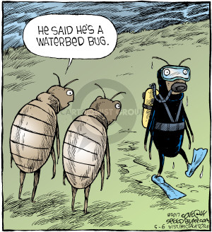 Comic Strip Dave Coverly  Speed Bump 2017-05-06 bed