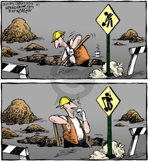 Comic Strip Dave Coverly  Speed Bump 2017-08-02 construction