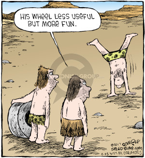 Comic Strip Dave Coverly  Speed Bump 2017-09-23 caveman