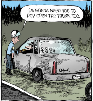 Cartoonist Dave Coverly  Speed Bump 2017-09-28 police