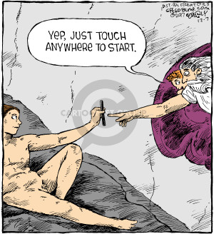 Cartoonist Dave Coverly  Speed Bump 2017-12-07 painting