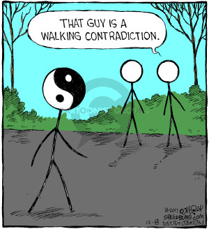 Comic Strip Dave Coverly  Speed Bump 2017-12-08 contradiction