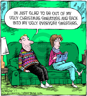 Comic Strip Dave Coverly  Speed Bump 2018-01-01 Christmas