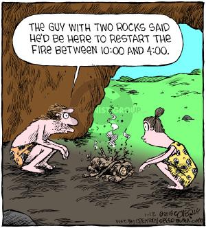 Comic Strip Dave Coverly  Speed Bump 2018-01-12 caveman