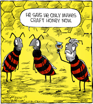 Comic Strip Dave Coverly  Speed Bump 2018-01-25 bee