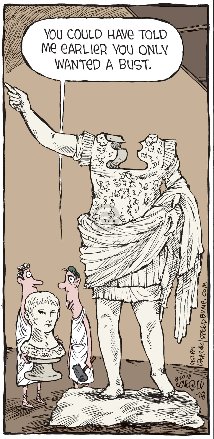 Comic Strip Dave Coverly  Speed Bump 2018-01-28 statue