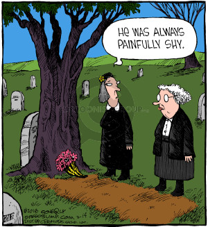 He was always painfully shy. (Originally published on 2004-04-07)