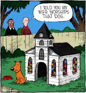 I told you my wife worships that dog. (Originally published on 2004-11-16)
