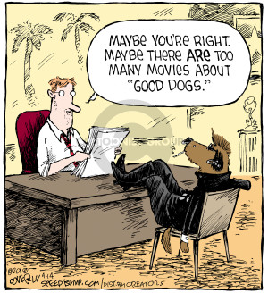 Comic Strip Dave Coverly  Speed Bump 2018-04-14 dog movie