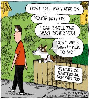 Cartoonist Dave Coverly  Speed Bump 2018-04-24 animal