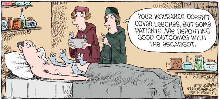 Cartoonist Dave Coverly  Speed Bump 2018-04-29 physician