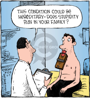 Cartoonist Dave Coverly  Speed Bump 2018-06-09 family
