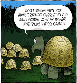 Comic Strip Dave Coverly  Speed Bump 2018-06-19 video game