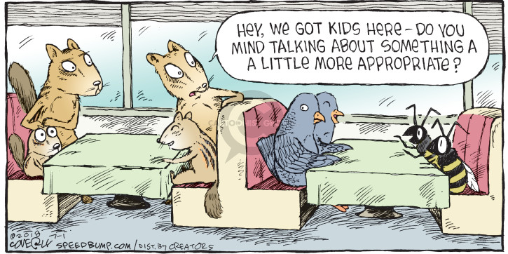 Comic Strip Dave Coverly  Speed Bump 2018-07-01 conversation