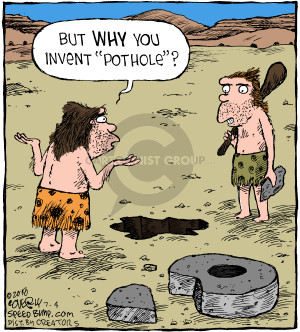 Cartoonist Dave Coverly  Speed Bump 2018-07-04 invention