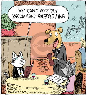 Comic Strip Dave Coverly  Speed Bump 2018-07-12 cat food