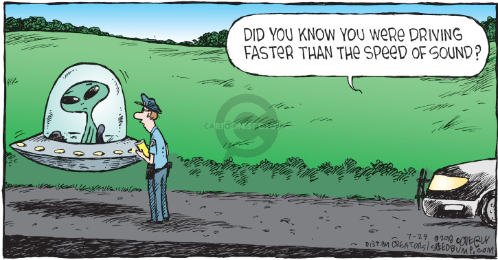 Cartoonist Dave Coverly  Speed Bump 2018-07-29 police