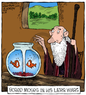 Bored Moses in his later years.
