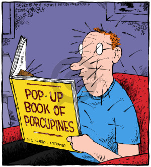 Cartoonist Dave Coverly  Speed Bump 2018-08-28 book