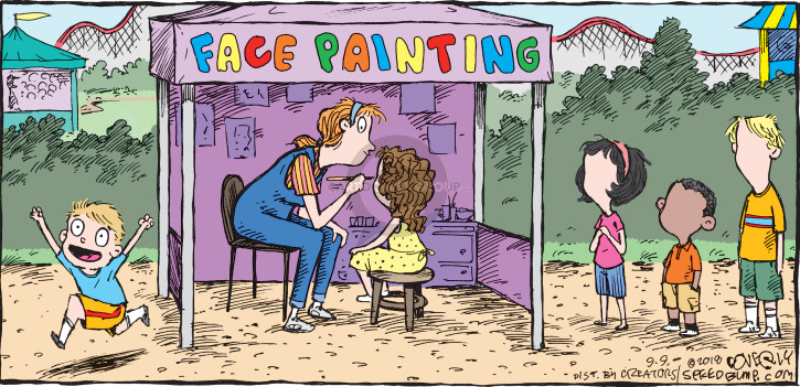Cartoonist Dave Coverly  Speed Bump 2018-09-09 painting