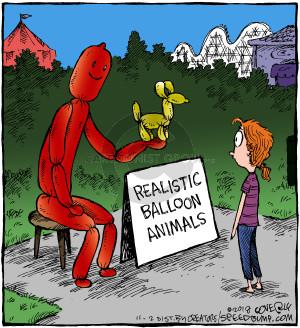 Realistic balloon animals.