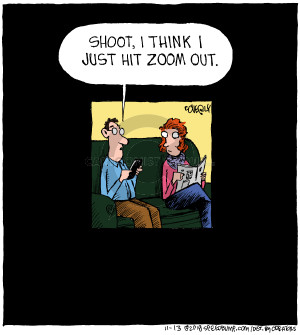 Cartoonist Dave Coverly  Speed Bump 2018-11-13 shoot