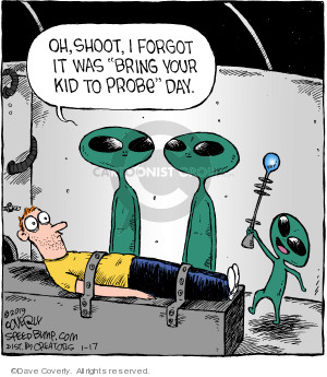 Comic Strip Dave Coverly  Speed Bump 2019-01-17 alien