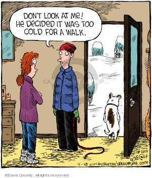 Comic Strip Dave Coverly  Speed Bump 2019-02-18 cold