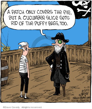 Cartoonist Dave Coverly  Speed Bump 2019-02-19 pirate