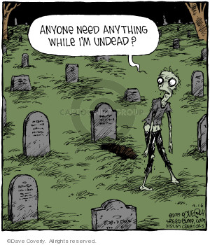 Comic Strip Dave Coverly  Speed Bump 2019-03-16 graveyard