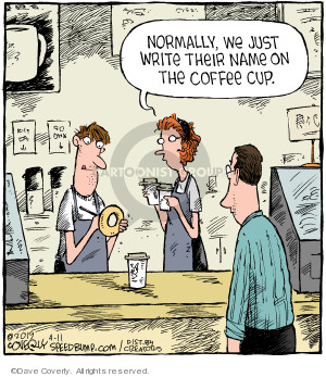 Comic Strip Dave Coverly  Speed Bump 2019-04-11 coffee cup