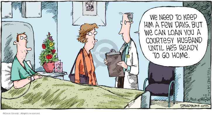 Cartoonist Dave Coverly  Speed Bump 2019-04-14 doctor