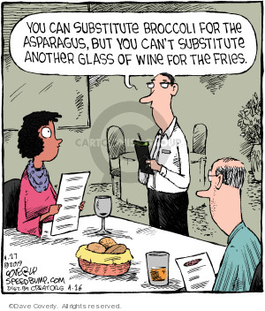 Comic Strip Dave Coverly  Speed Bump 2019-04-27 eat