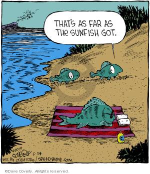 Thats as far as the Sunfish got.