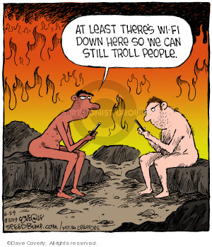 At least theres Wi-Fi down here so we can still troll people …