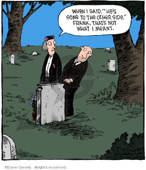 Comic Strip Dave Coverly  Speed Bump 2019-07-18 graveyard