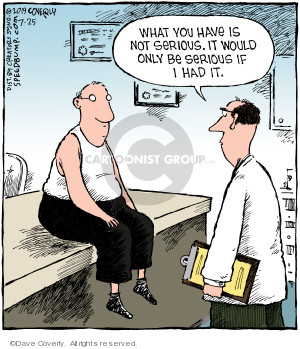 Cartoonist Dave Coverly  Speed Bump 2019-07-25 medical