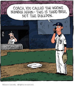 Comic Strip Dave Coverly  Speed Bump 2019-08-14 baseball