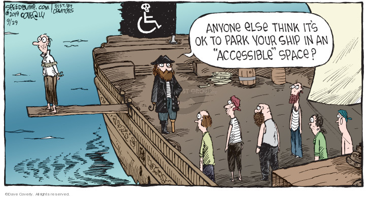 Cartoonist Dave Coverly  Speed Bump 2019-09-29 pirate