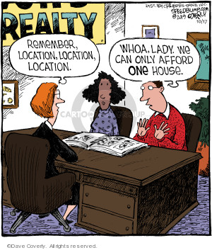 Comic Strip Dave Coverly  Speed Bump 2019-10-17 real estate