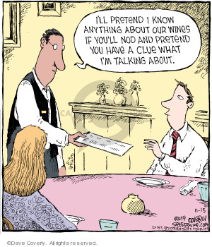Comic Strip Dave Coverly  Speed Bump 2019-11-15 restaurant