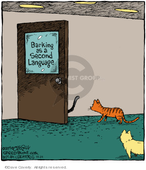 Comic Strip Dave Coverly  Speed Bump 2019-11-21 language