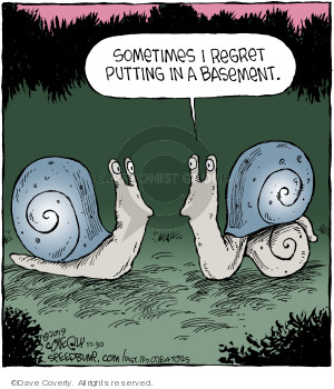 Comic Strip Dave Coverly  Speed Bump 2019-11-30 snail