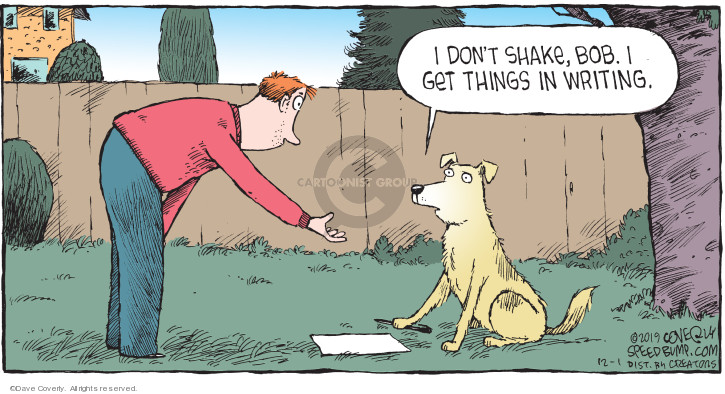 Comic Strip Dave Coverly  Speed Bump 2019-12-01 don't