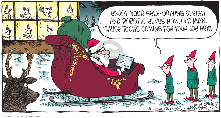 Cartoonist Dave Coverly  Speed Bump 2019-12-15 tech